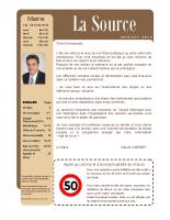 La Source Avril à Juin 2014