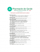 PHARMACIE DE GARDE JUSQU'AU 7 MAI (PDF – 128.28 Ko)