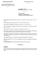 Bruit Arrêté préfectoral _ 97-5126